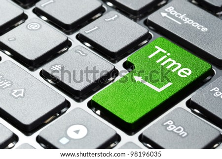 Green time button on the keyboard