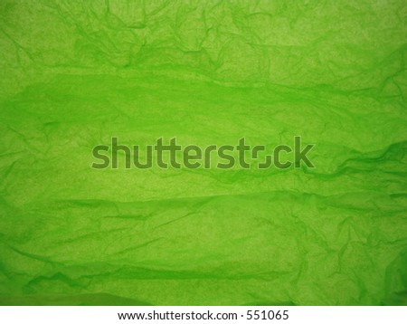 Green tissuepaper. - stock photo