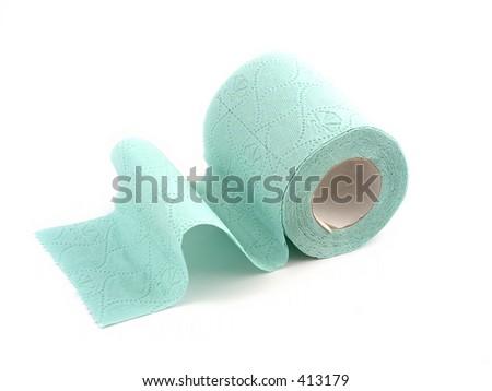 green toilet paper - stock photo