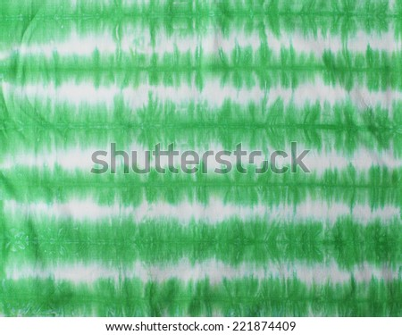 green tone tie dye pattern for background.  - stock photo