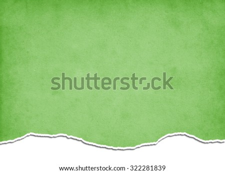 Green torn paper - stock photo