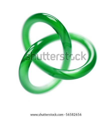 Green Torus - stock photo