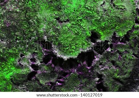 Green toxic metal plate - stock photo