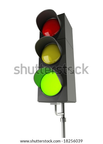 green traffic light - stock photo
