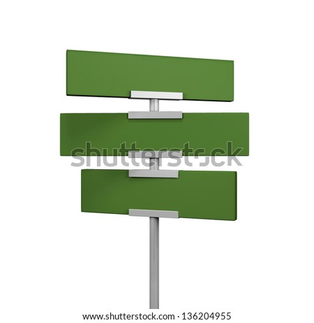 green traffic road sign on white