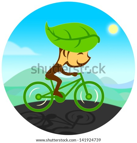 green transportation - stock photo