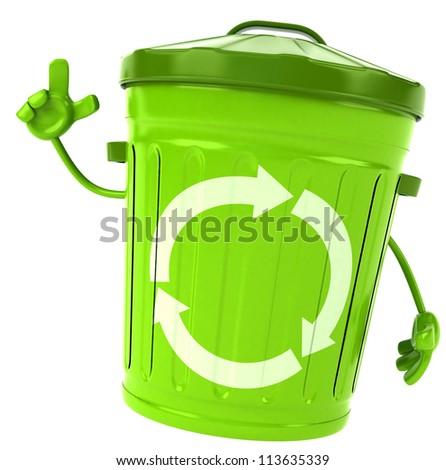 Green trash - stock photo