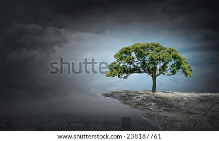 Green tree as a symbol of environmental protection