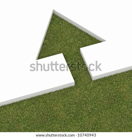 green tree metaphor - stock photo