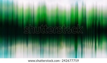 Green trees equalizer horizontal abstraction - stock photo