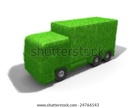 Green Truck - stock photo