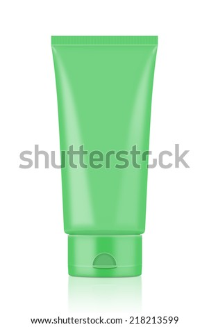 Green Tube Mock-up for design packaging and other job. - stock photo