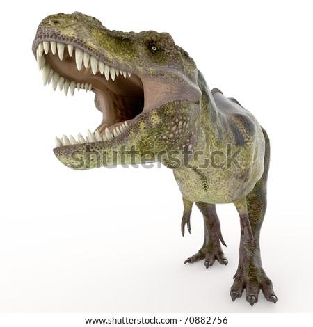 green tyrannosaurus - stock photo