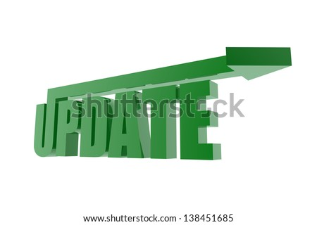Green update symbol - stock photo