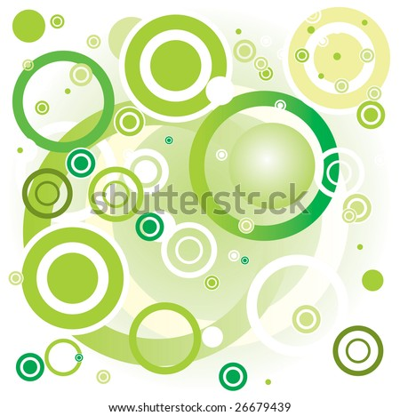 Green vector background - stock photo
