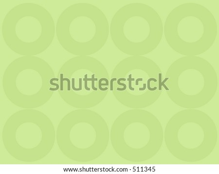 Green vector background with circles - stock photo