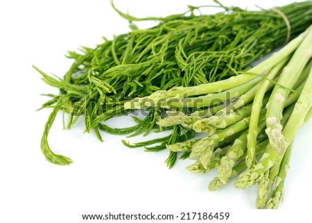 Green vegetables contain nutrients and medicinal properties.