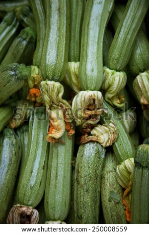 green vegetables in market, diet food  - stock photo