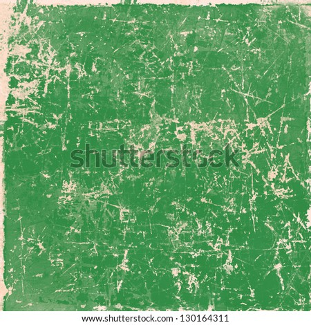 Green vintage grunge paper texture, background - stock photo
