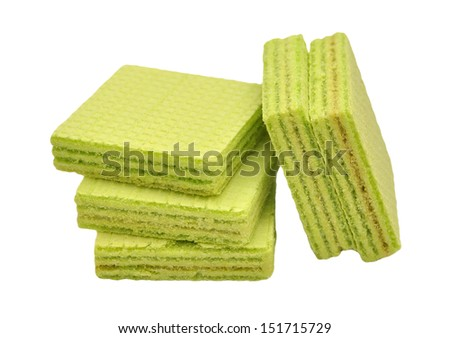 green wafer stack snack