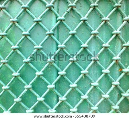 Green wall grille texture