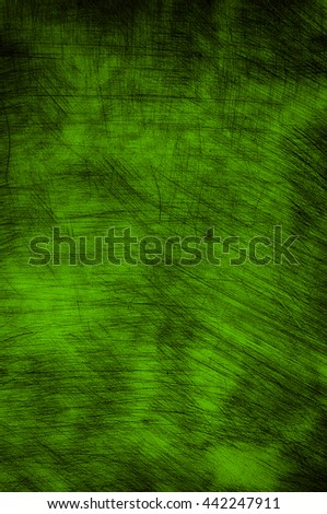 Green wall with scratches as background texture. - stock photo