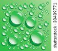 green water bubbles - stock photo