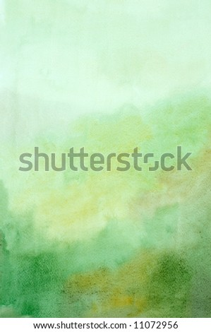 green water-color background - stock photo