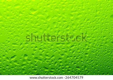 Green Water Drop Background - stock photo