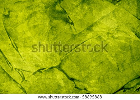 green watercolor with blurred effect - stock photo