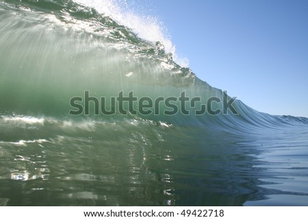 green wave - stock photo