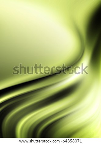 Green waves - stock photo