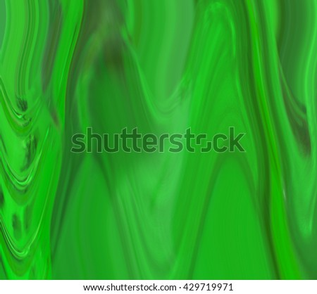 green waves abstract - stock photo