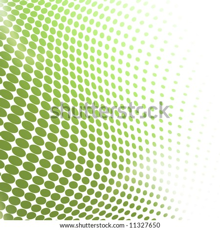 green-white abstract dotted background - stock photo