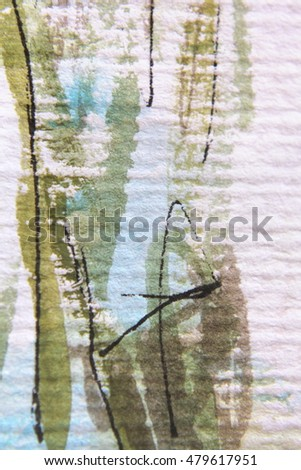 Green White and Blue Watercolour Textures 2