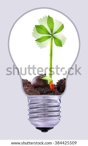 Green wind power plant, sustainable development  - stock photo