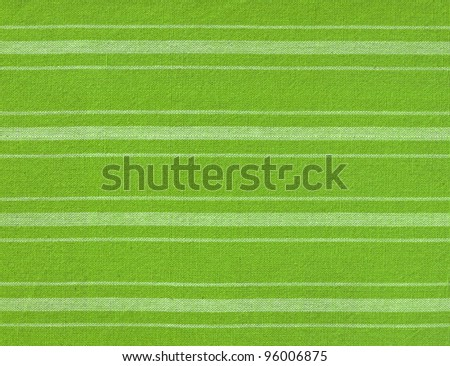 Green with white lines fabric background - stock photo