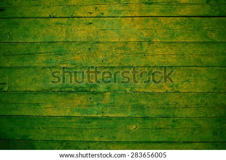 Green wooden board texture - stock photo