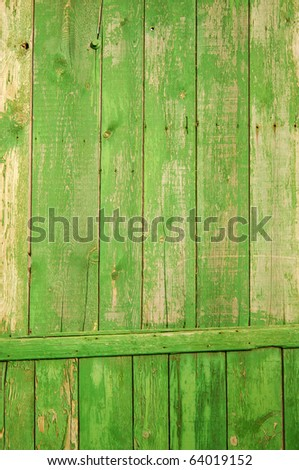 green wooden fence great as a background - stock photo