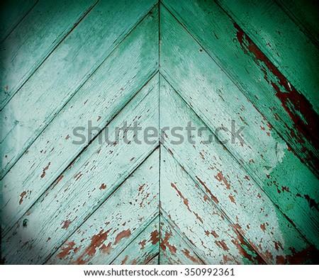 green wooden texture - stock photo