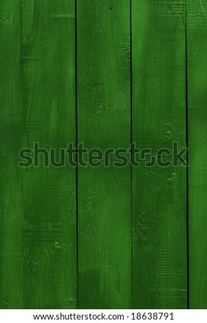 green wooden wall - stock photo