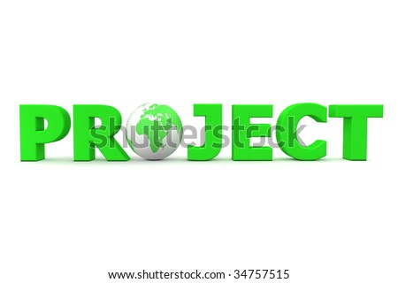 Green Word Project 3d Globe Replacing Stock Illustration 34757515 ...