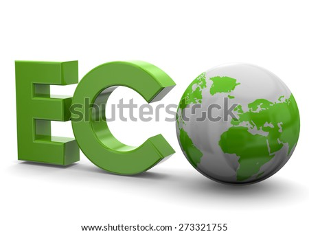 Green World and Eco Concept - stock photo