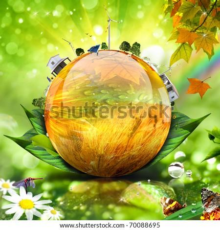 Green world concept image. More in my portfolio - stock photo