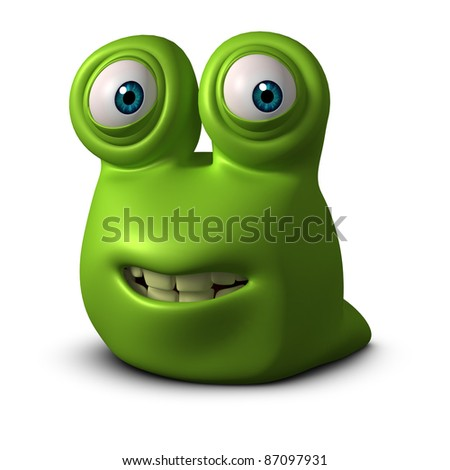 green worm - stock photo