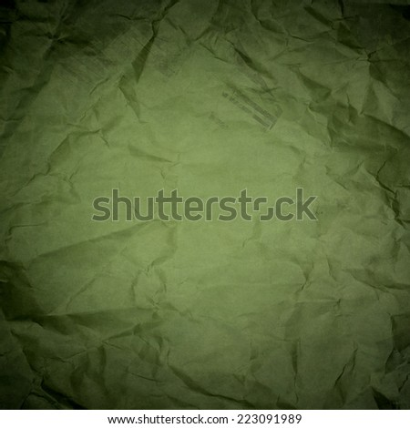 green wrinkled paper texture or background - stock photo