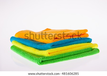 Green, yellow, blue and orange towel
