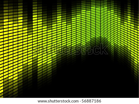 Green / Yellow Equalizer - stock photo