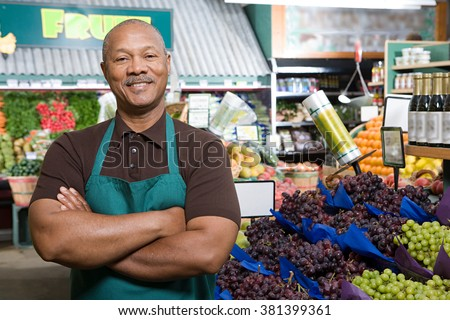 Greengrocer - stock photo