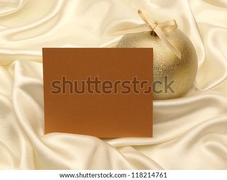 Greeting card and decoration for christmas and new year - stock photo